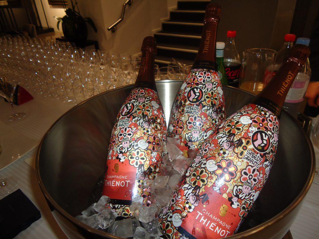 Speedy Graphito partenaire de la maison de champagne Thiénot