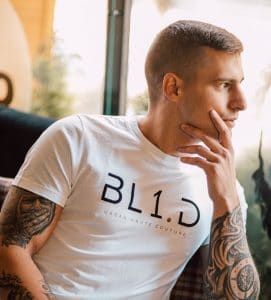 T-shirt1 bl1D blanc